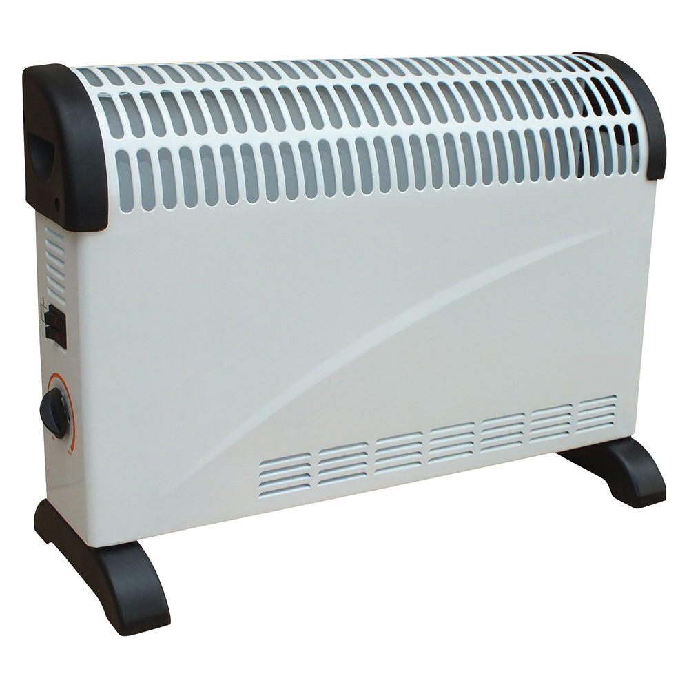 Business Convector Electric Heater with Thermostat 2 Heat Settings 2000w White (Pack of 1)