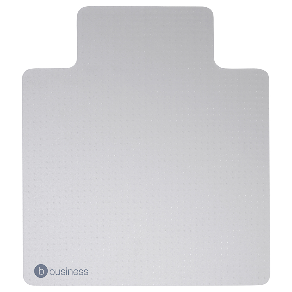 Business Lipped Carpet Chairmat PVC 1150x1340mm Clear (Pack of 1)