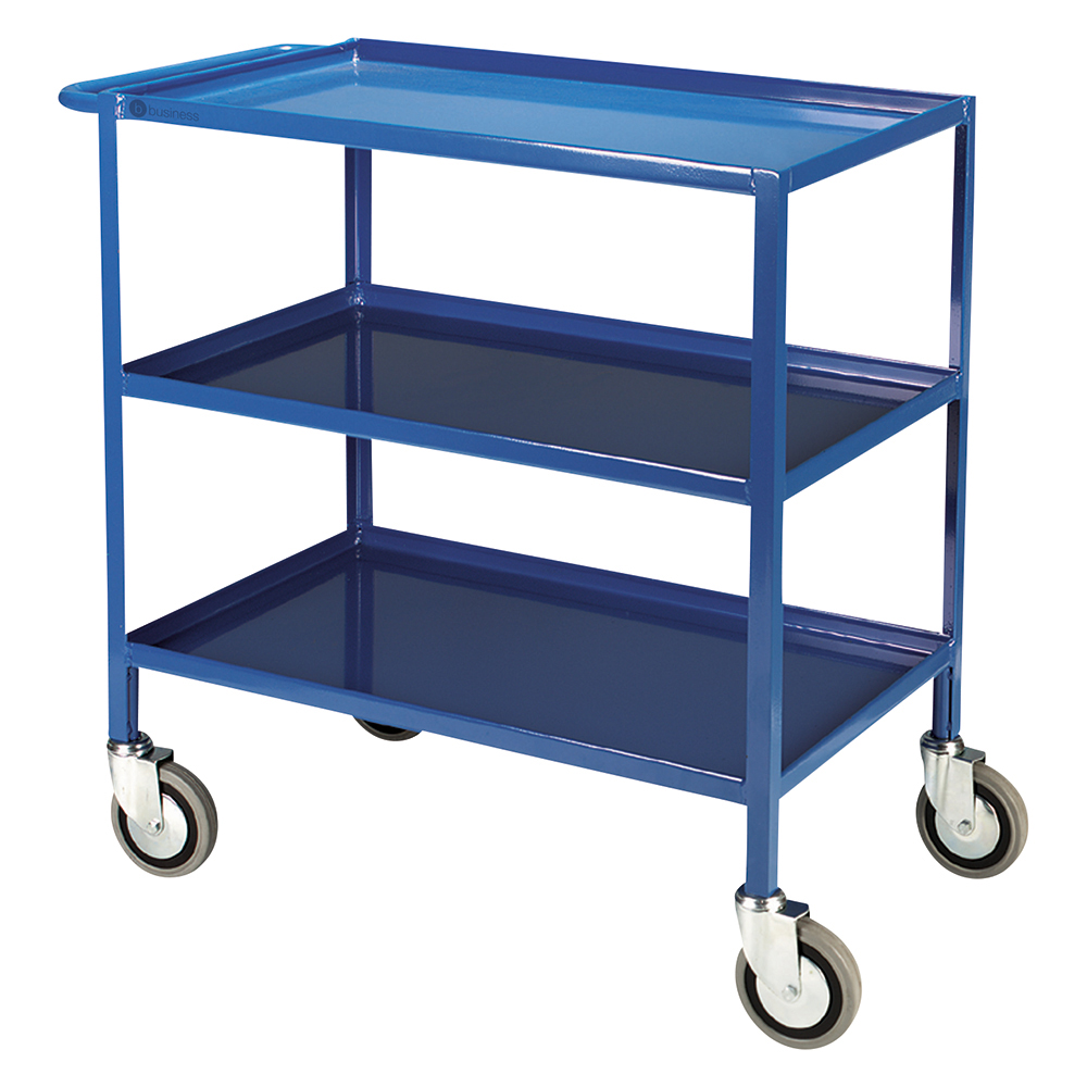 Business Facilities serving Trolley 3 Tier W460xD865xH840mm Blue