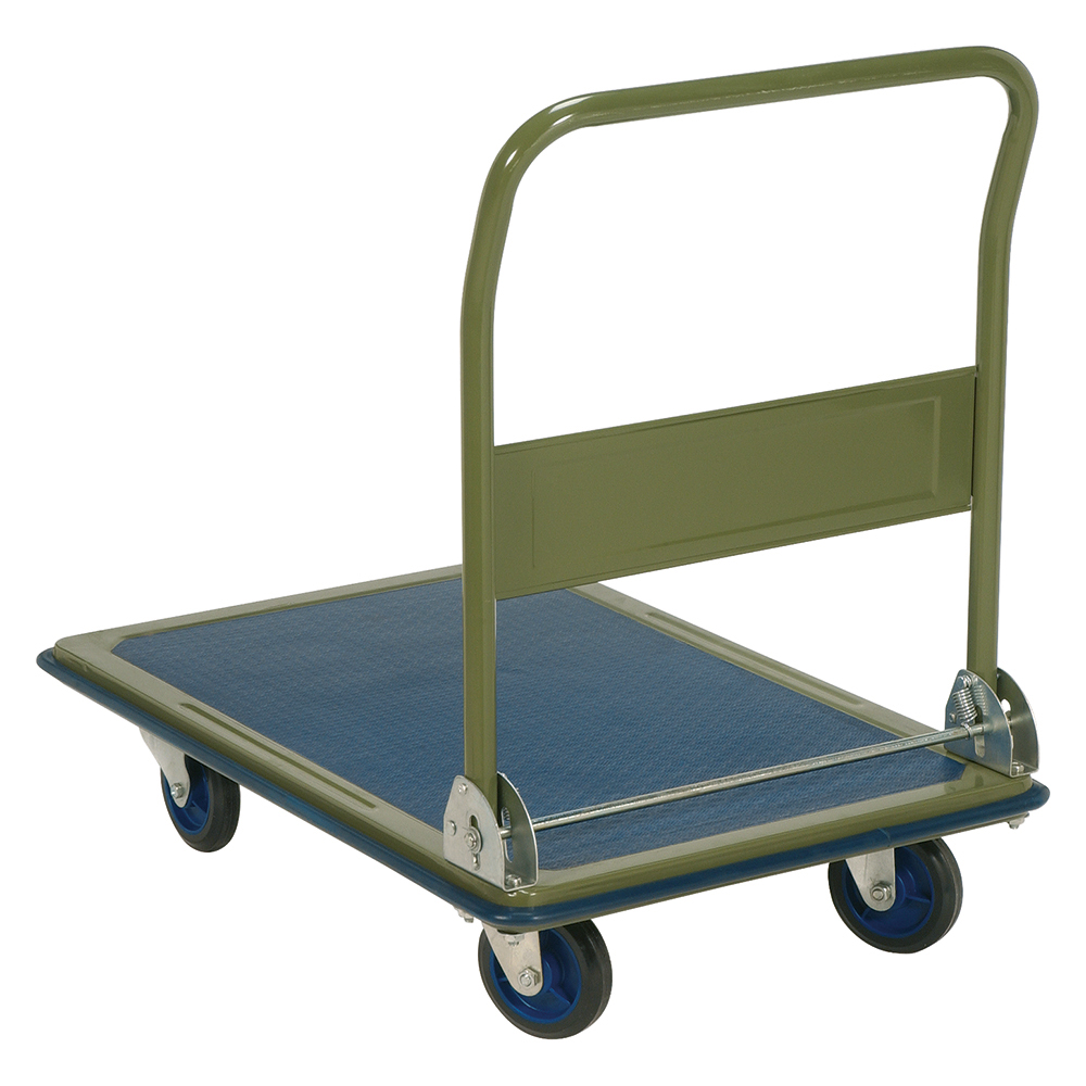 Business Facilities Platform Truck Medium-duty Capacity 300kg Baseboard W900xD600mm Blue and Grey