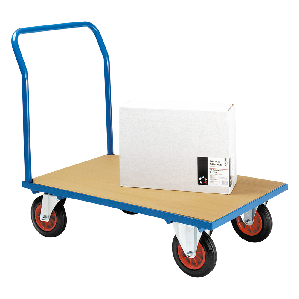 Business Platform Truck Capacity 500kg Blue (Pack of 1)