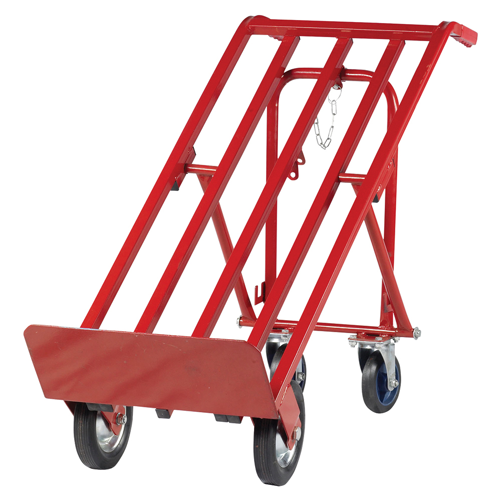 Business Facilities Sack Truck Heavy Duty 3 Position Steel Frame Double Rear Castors Capacity 300kg Red