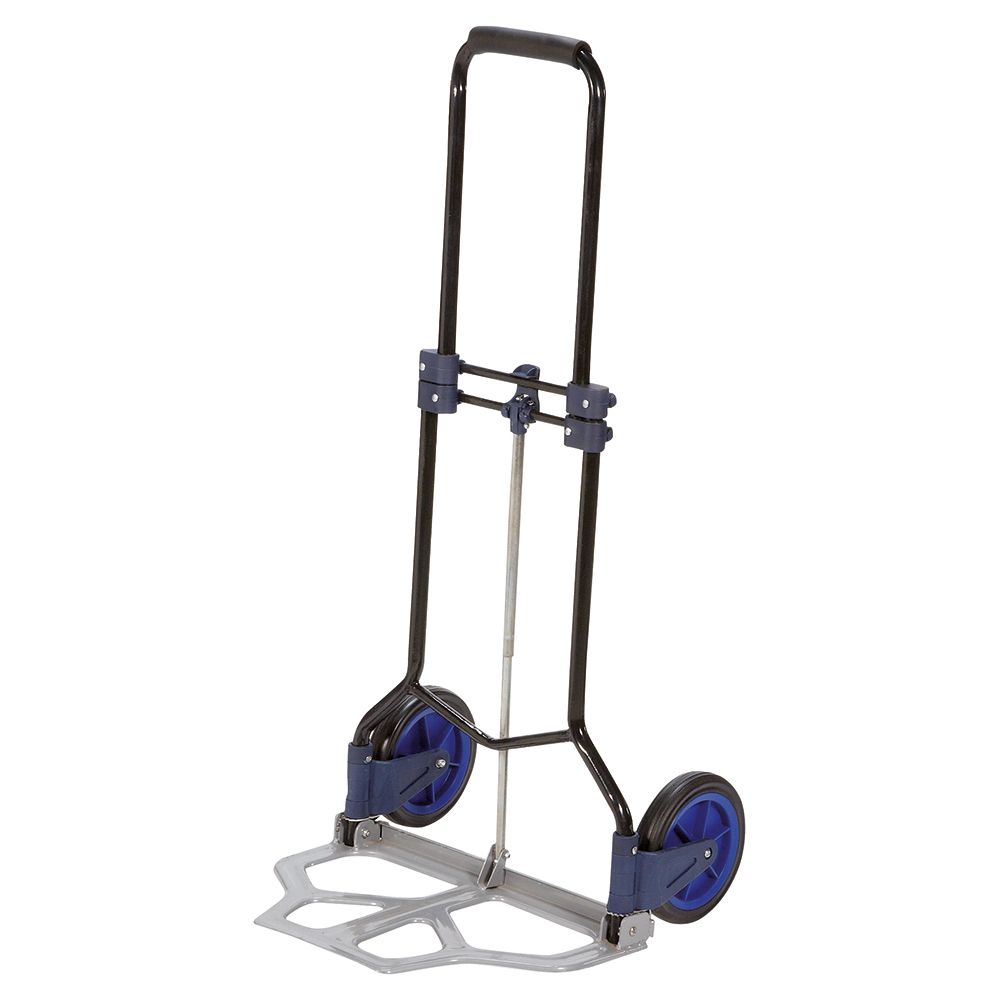 Business Folding Hand Trolley Lightweight Capacity 70kg Black/Blue (Pack of 1)