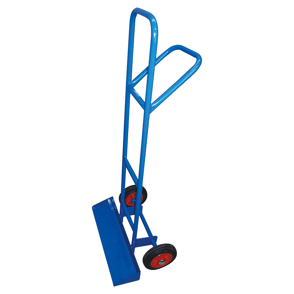 Business Carrying Trolley for Stacking Chairs Steel Frame Rubber Wheels Capacity 200kg Blue (Pack of 1)
