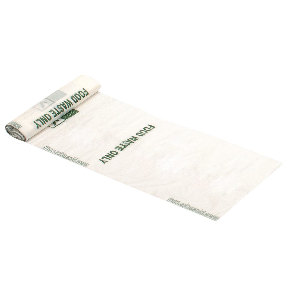 Business Compostable Food Waste Refuse Sacks Medium/Heavy Duty 7 Litre Capacity White (Roll of 25)