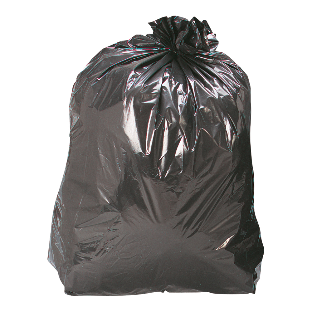 Business Facilities Bin Liners Medium/Heavy Duty 110 Litre Capacity W450/690xH945mm Black Pack 200
