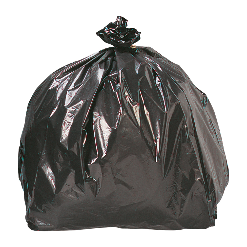 Business Facilities Bin Liners Light/Medium Duty 95 Litre Capacity W465/720xH960mm Black Pack 200