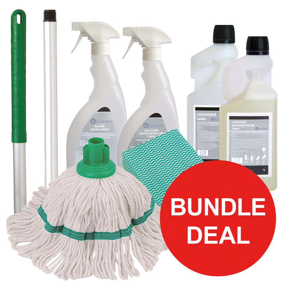 Business Kitchen Cleaning Kit Bundle Offer Green (1 x bundle offer)