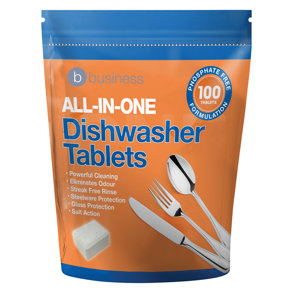 Business Facilities All-in-one Dishwasher Tablets Pack 100