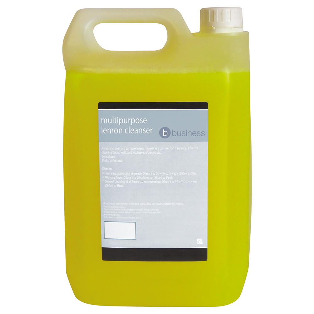 Business Facilities Concentrated Multipurpose Cleaner Lemon 5 Litre
