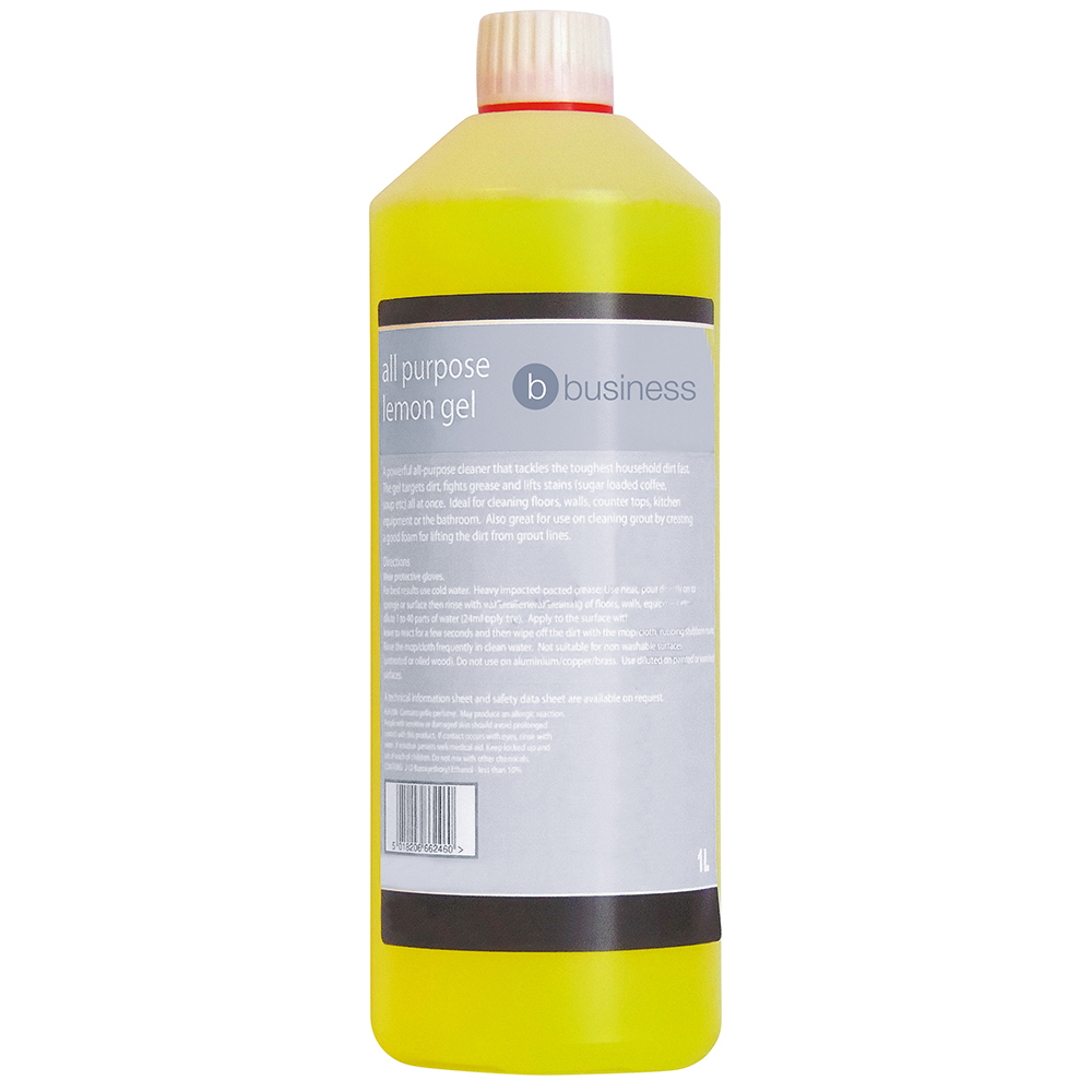 Business All Purpose Cleaning Gel Lemon 1 Litre (Pack of 1)