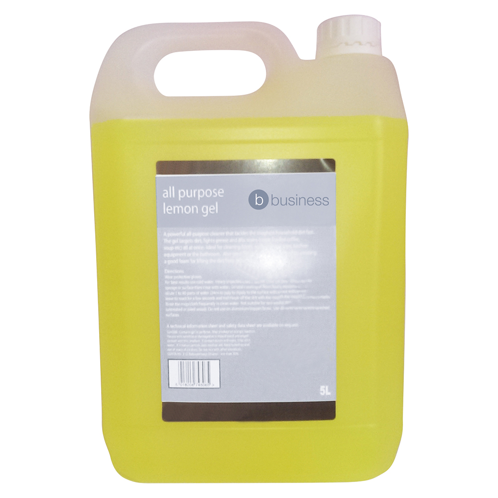 Business All Purpose Cleaning Gel Lemon 5 Litre (Pack of 1)