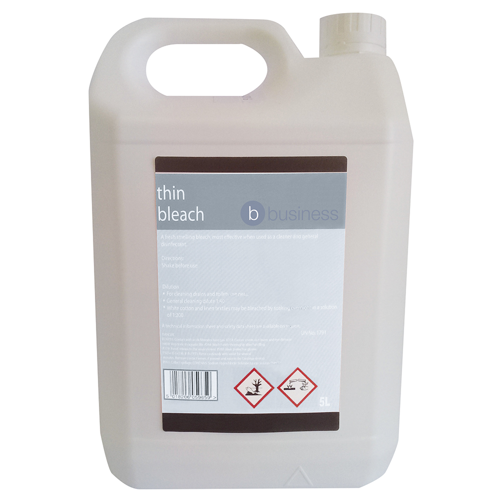 Business Facilities Thin Bleach for General Purpose Cleaning 5 Litres