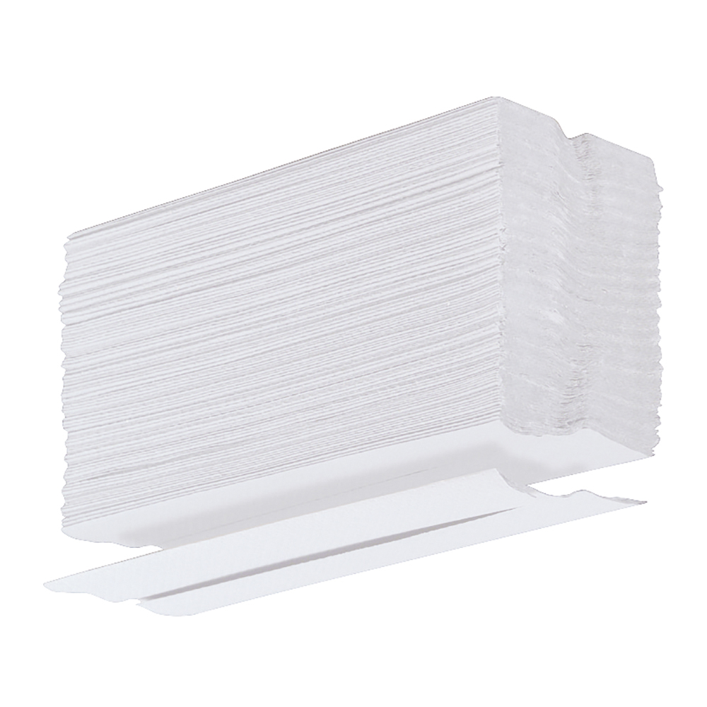 business Facilities Hand Towel C-Fold One-Ply Recycled Size 230x310mm 100 Towels Per Sleeve White Pack 24
