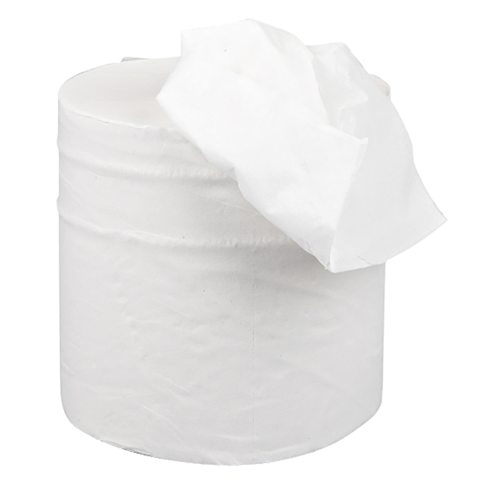 business Facilities Centrefeed Tissue Refill for Jumbo Dispenser Two-ply L150mxW180mm White Pack 6