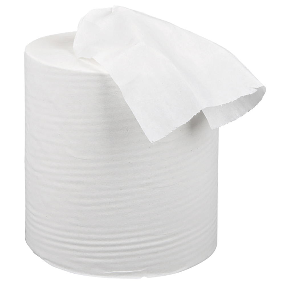 business Facilities Centrefeed Tissue Refill for Mini Dispenser Single-ply L120mxW197mm White Pack 12