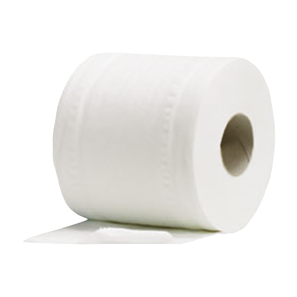 Business Facilities Toilet Rolls 2-ply 102x92mm 4 Rolls of 200 Sheets Per Pack White Pack 9
