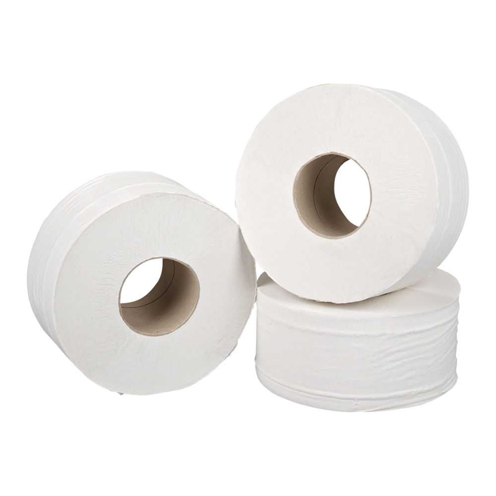 Business Jumbo Toilet Rolls 2 ply 200m White (Pack of 12)