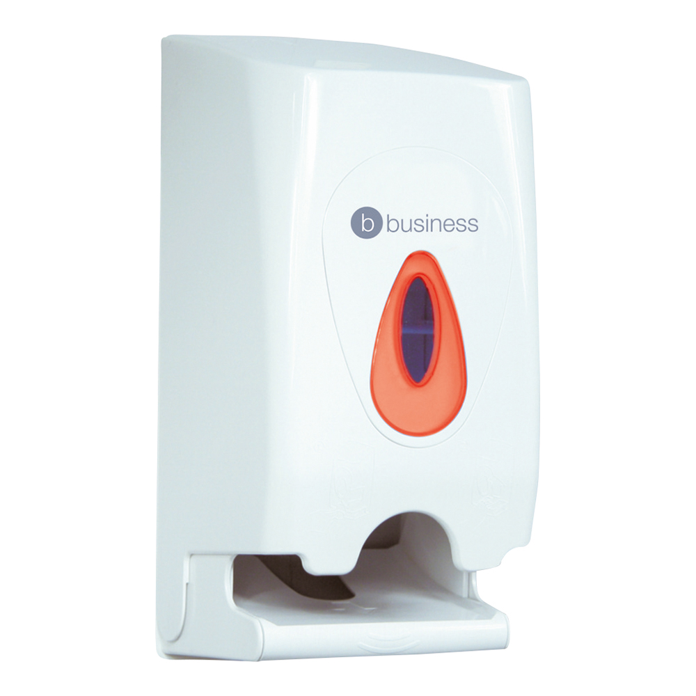 Business Twin Toilet Roll Dispenser White (Pack of 1)