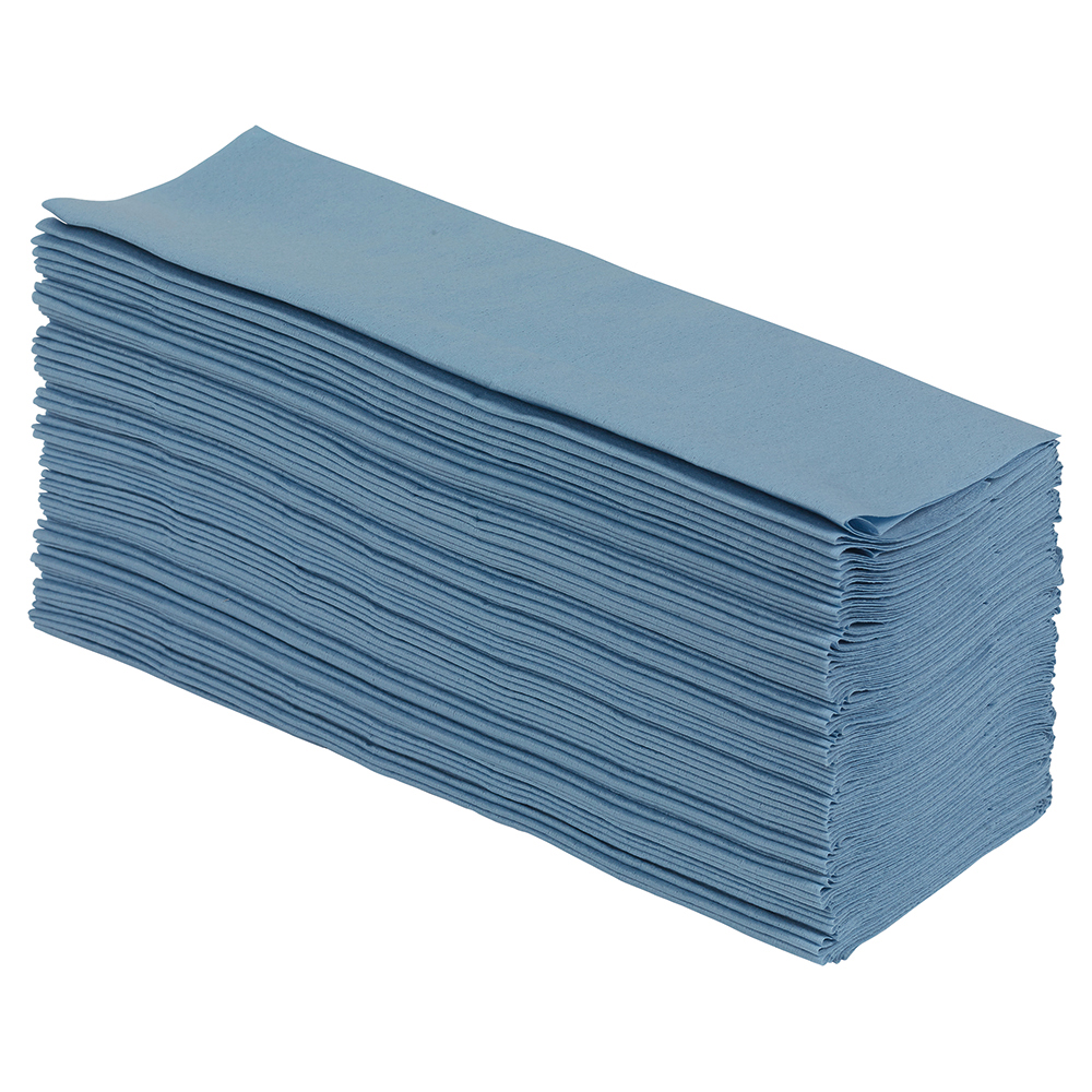 Business Super Absorbent Low Lint Multipurpose Wiping Cloths in Dispenser Box 60gsm Blue (Box of 160)