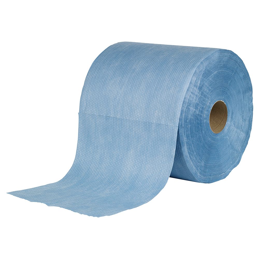 Business Facilities Cloths Super Absorbent H/Duty Low Lint Solvent-resistant 110gsm 30x36cm Blue Roll 500
