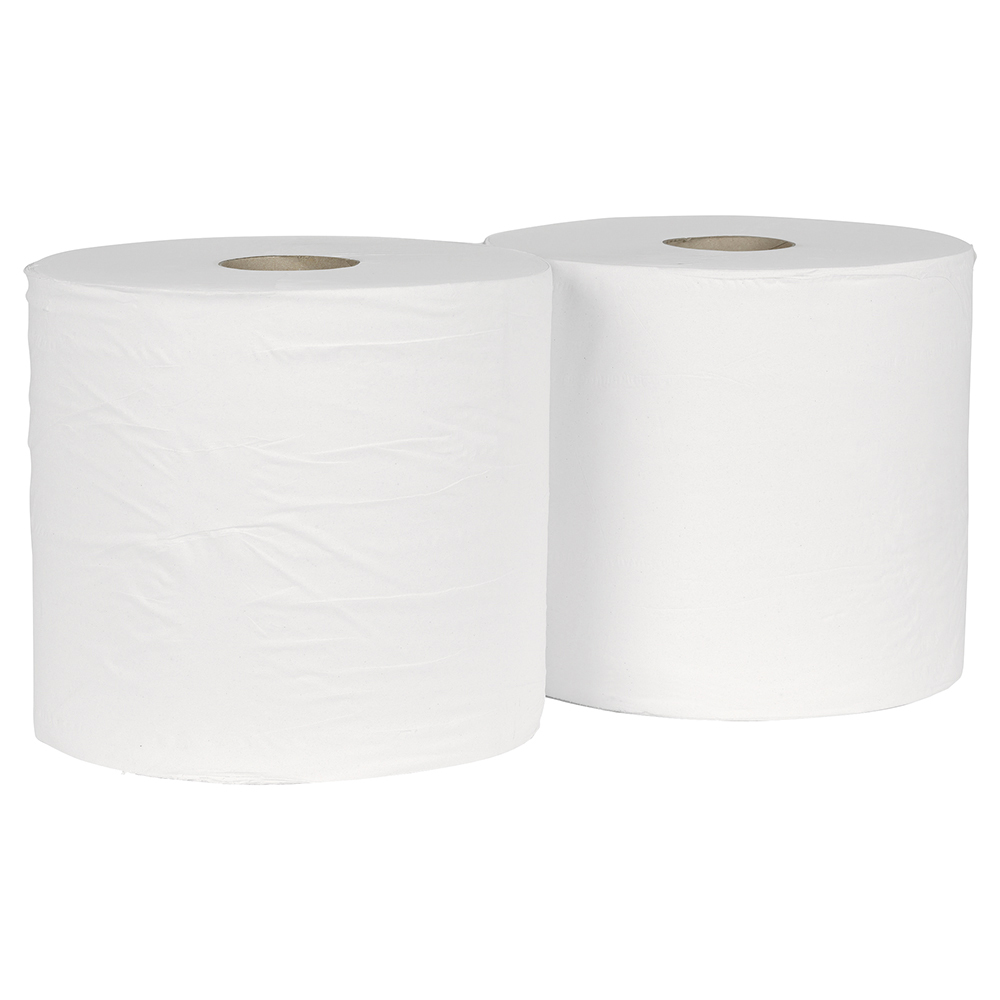 Business Giant Wiper Roll 2-ply 40gsm White (Pack of 2)