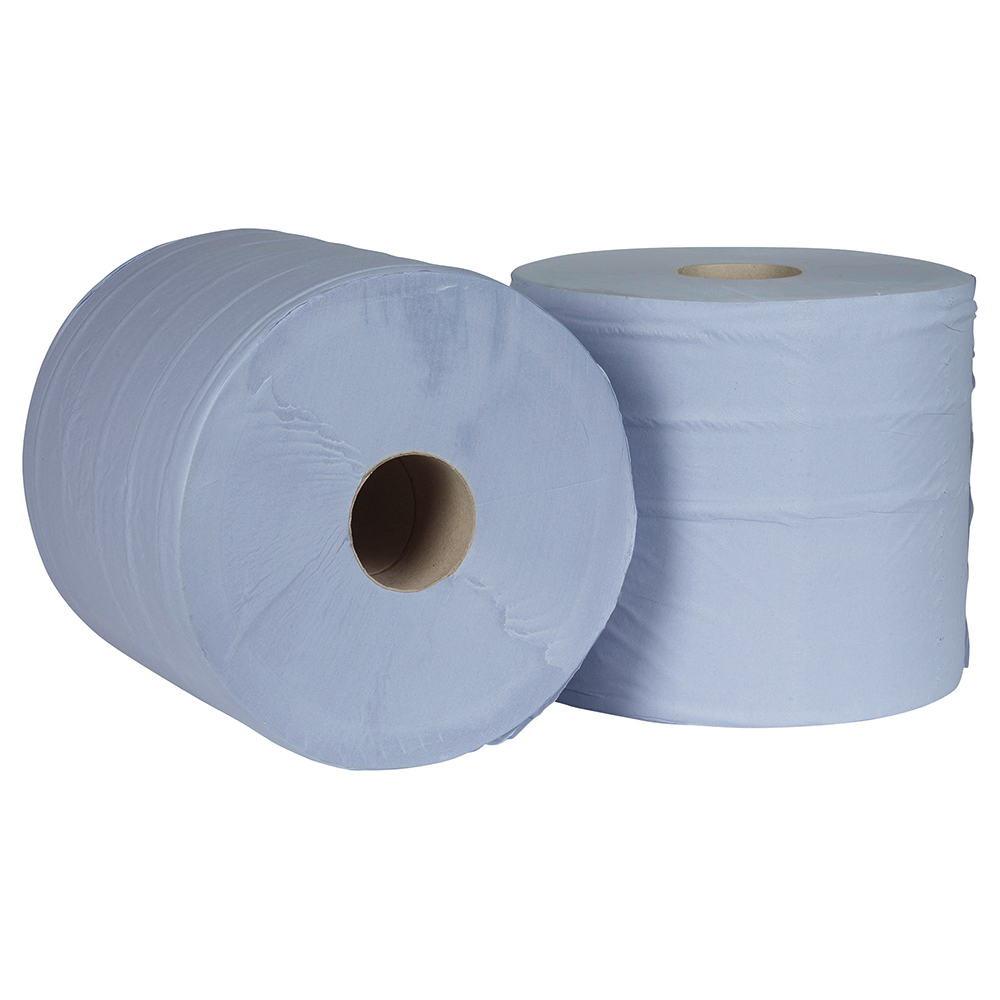 Business Facilities Giant Wiper Roll 2-ply Perforated Sheet 370x370mm 40gsm1000 Sheets Blue Pack 2