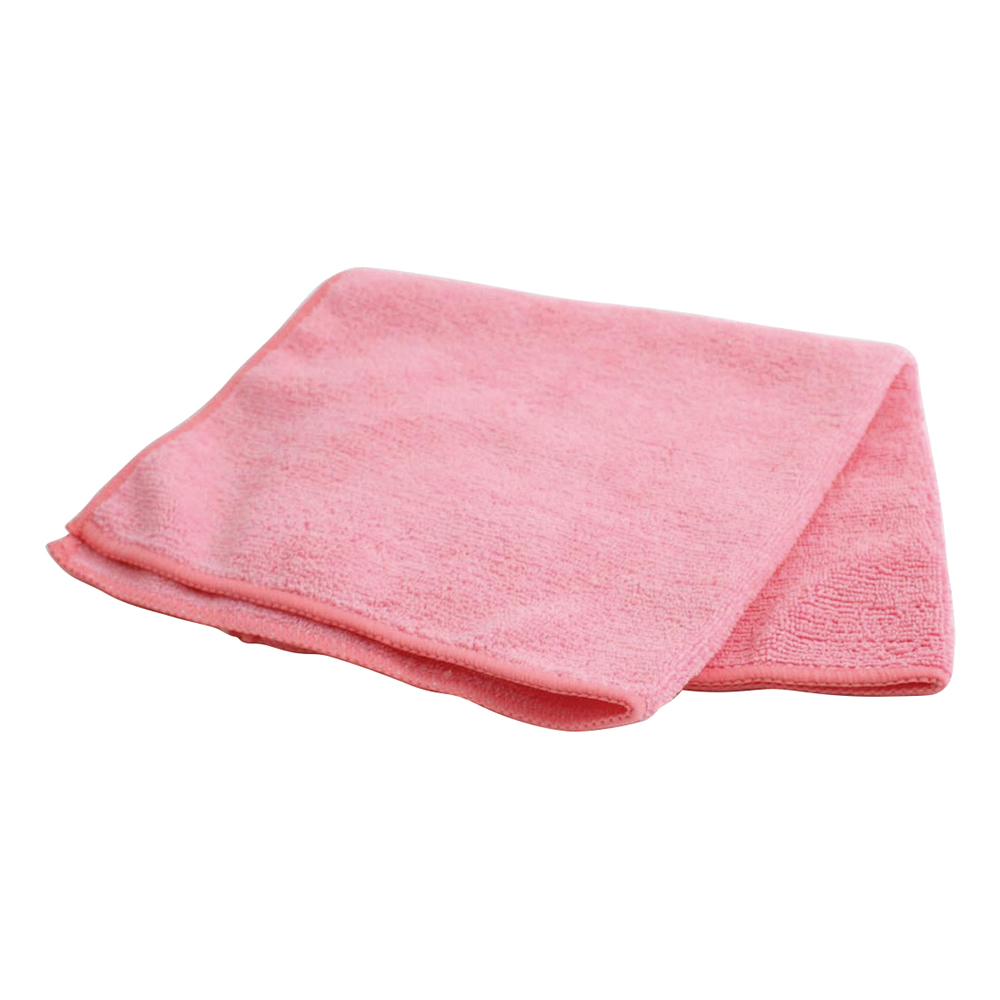 Business Facilities Microfibre Cleaning Cloths Colour-coded for Dry or Damp Multi-surface Use Red Pack 6