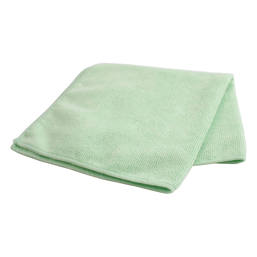 Business Facilities Microfibre Cleaning Cloths Colour-coded Dry or Damp Multi-surface Use Green Pack 6