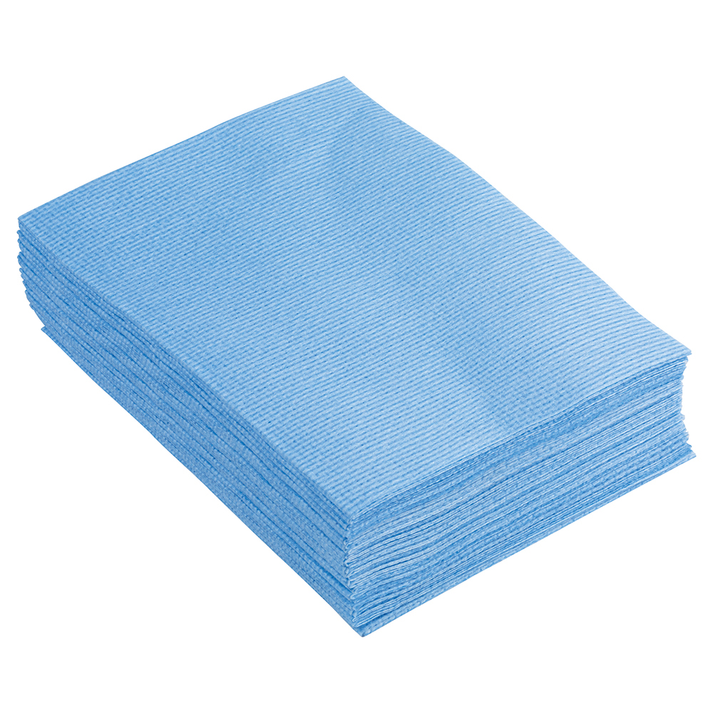 Business Facilities Cleaning Cloths Anti-microbial Heavy-duty 76gsm W500xL300mm Blue Pack 25