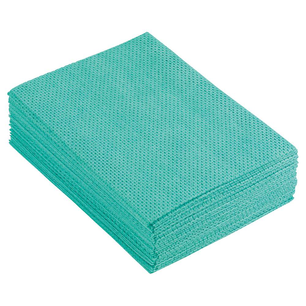 Business Facilities Cleaning Cloths Anti-microbial Heavy-duty 76gsm W500xL300mm Green Pack 25