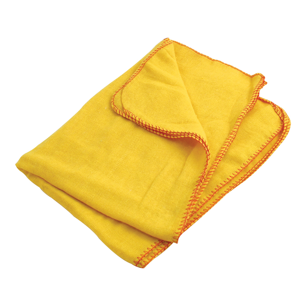 Business Facilities Yellow Dusters 100% Cotton 350x350mm Pack 10