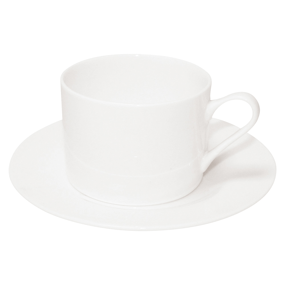 Business Fine Bone China Tea Set 12 Piece White (Pack of 1 set)
