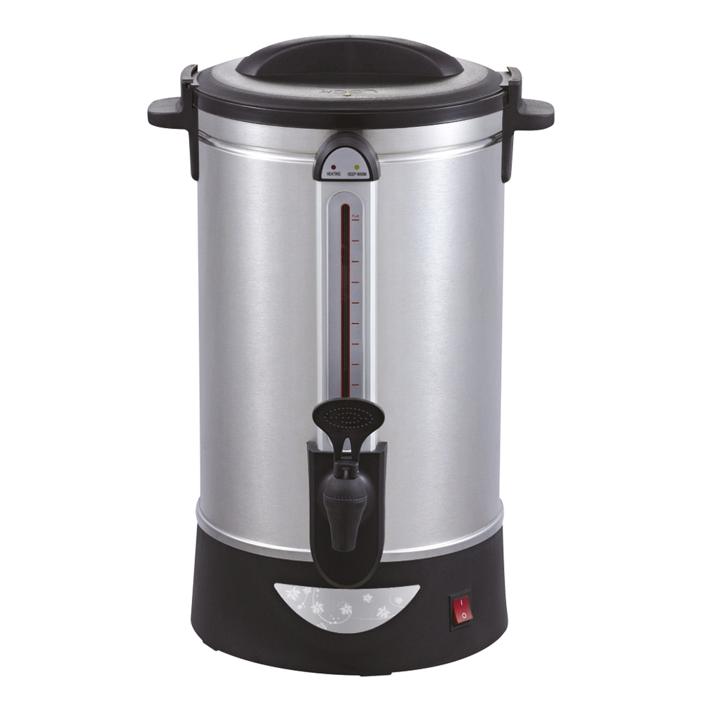 Business Facilities Catering Urn Locking Lid Water Gauge Boil Dry Overheat Protection 1600W 10 Litre