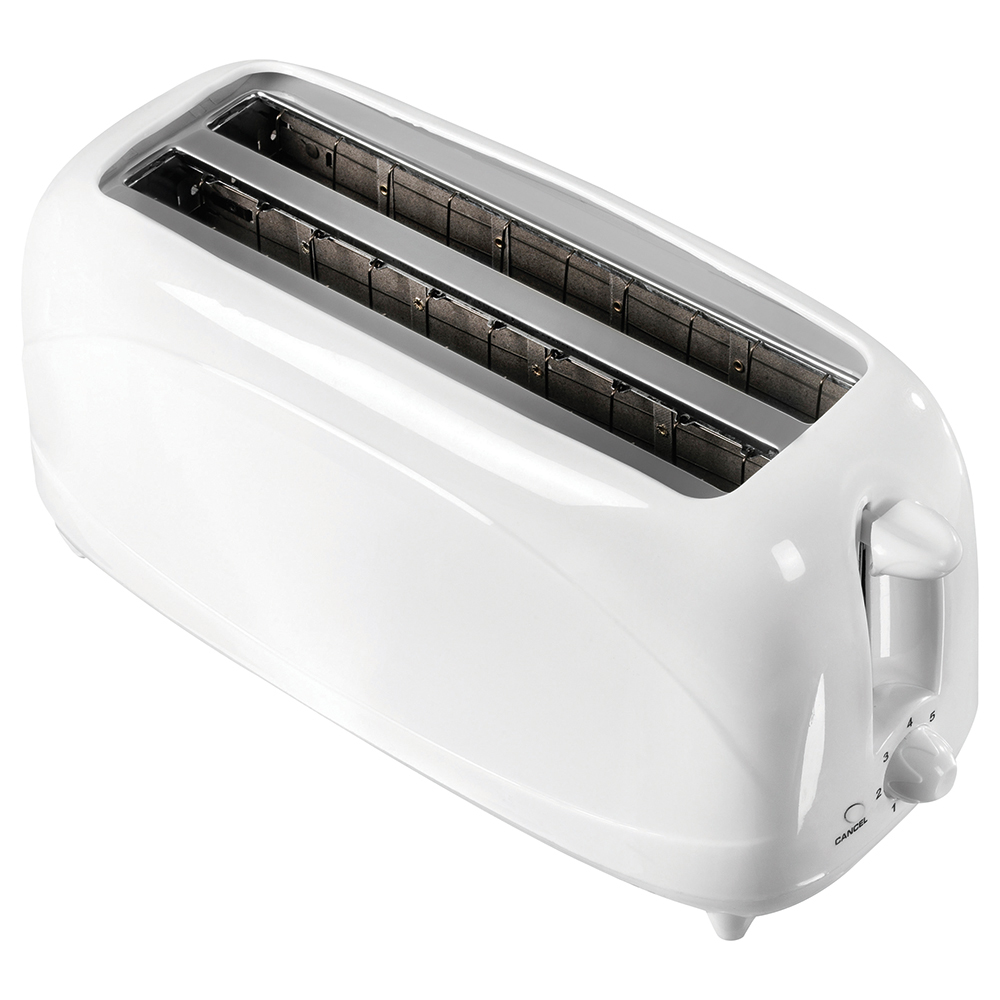Business Toaster 4 Slice 1200w White (Pack of 1)