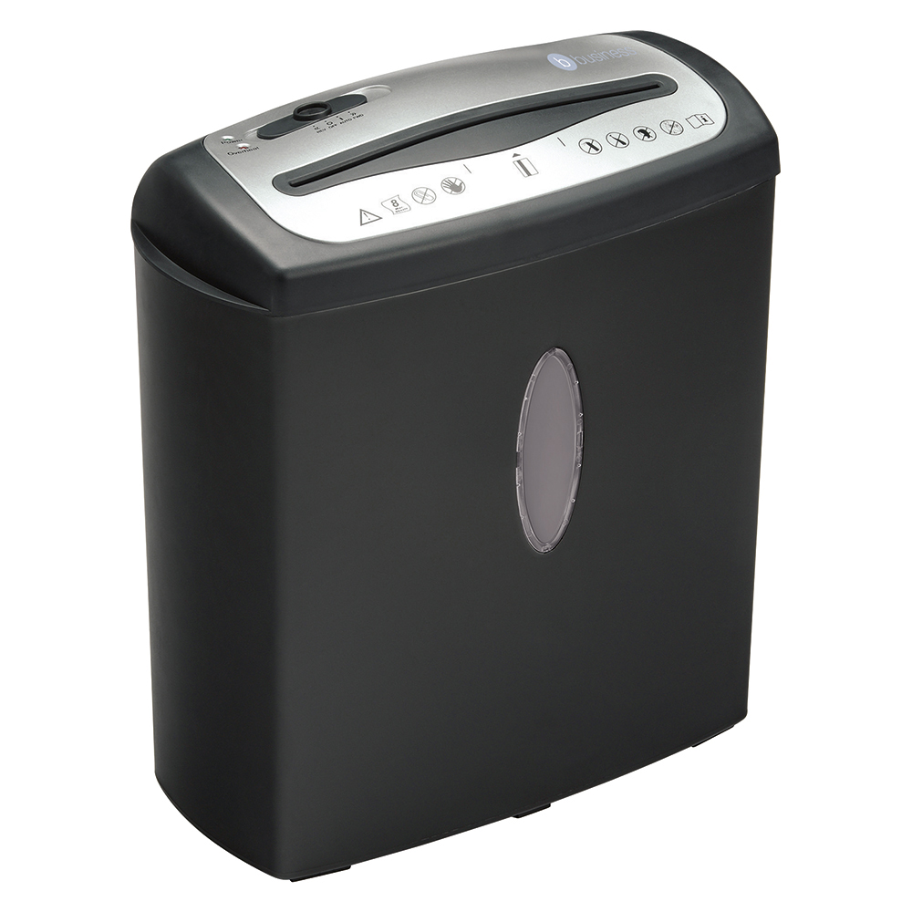 Business CC8 Shredder Cross Cut P-4 Security 15 Litre Black (Pack of 1)