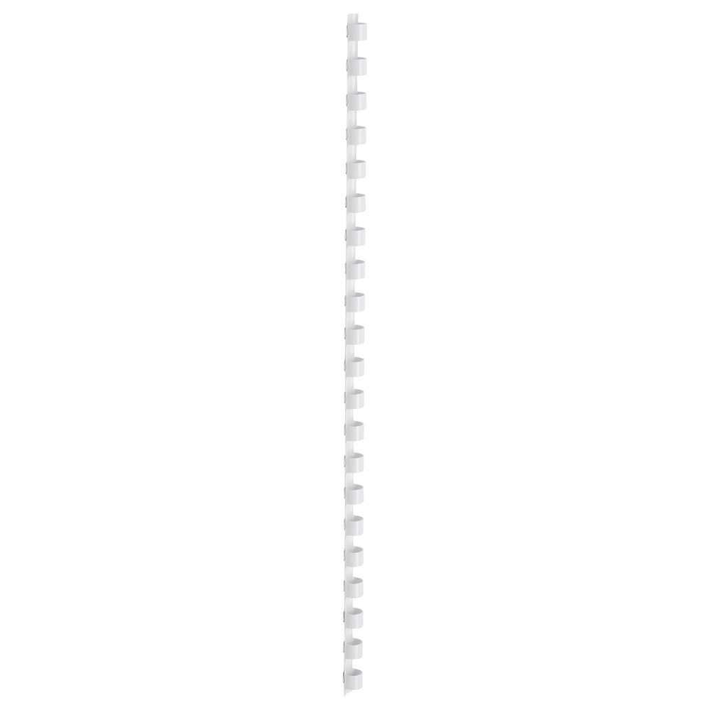 Business Office Binding Combs Plastic 21 Ring 45 Sheets A4 8mm White Pack 100
