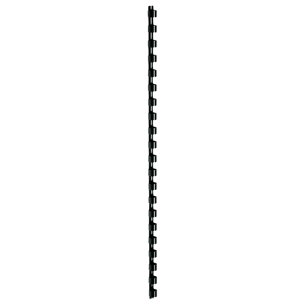Business Office Binding Combs Plastic 21 Ring 65 Sheets A4 10mm Black Pack 100