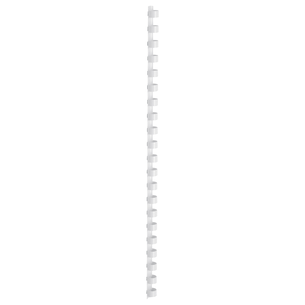 Business Office Binding Combs Plastic 21 Ring 65 Sheets A4 10mm White Pack 100