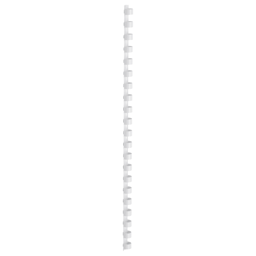 Business Office Binding Combs Plastic 21 Ring 95 Sheets A4 12mm White Pack 100