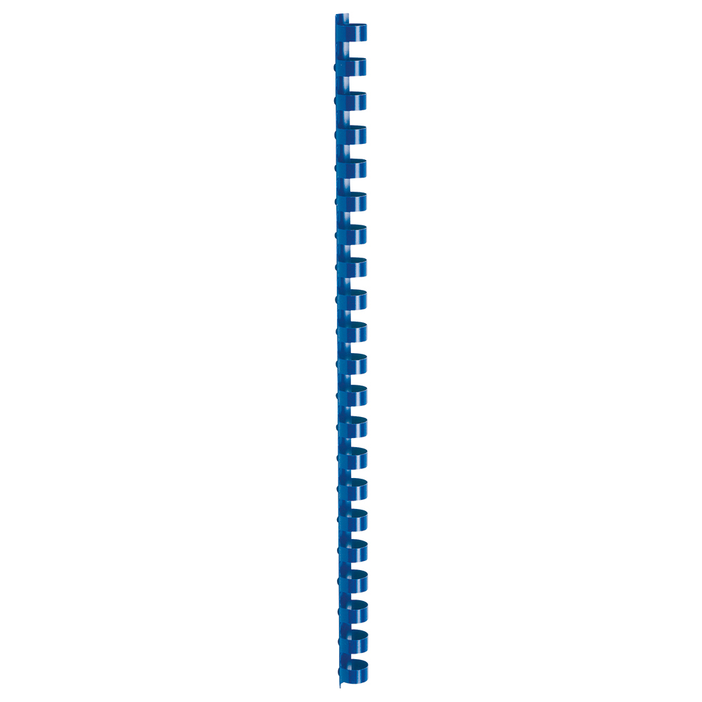Business Office Binding Combs Plastic 21 Ring 95 Sheets A4 12mm Blue Pack 100