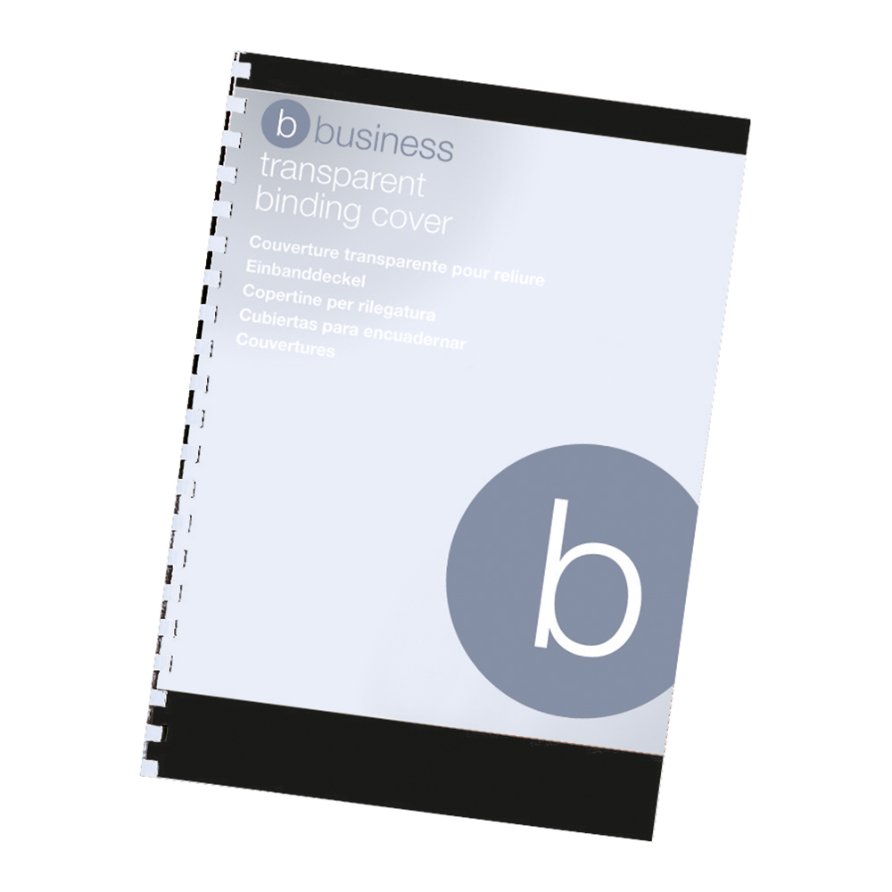 Business Comb Binding Covers PVC 250 micron A4 Clear (Pack of 100)