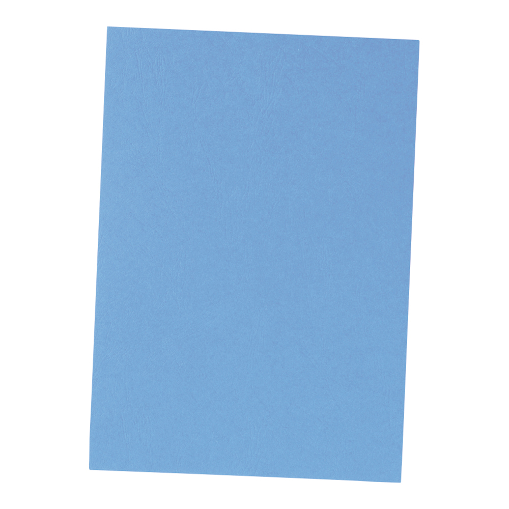business Office Binding Covers 240gsm Leathergrain A4 Blue Pack 100
