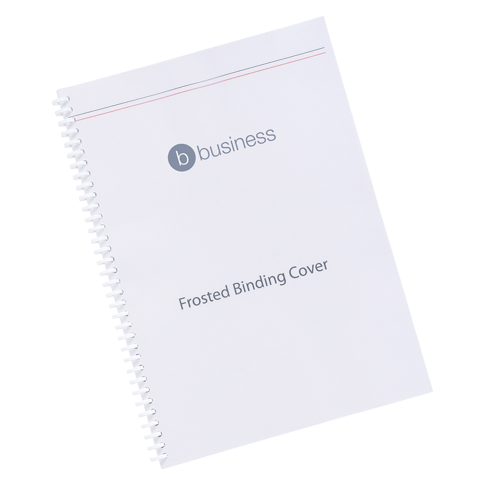Business Comb Binding Covers 300 micron A4 Frosted (Pack of 100)