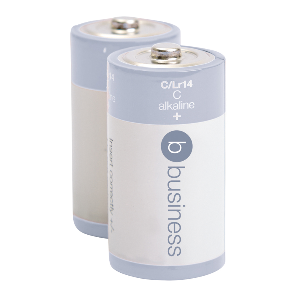 Business Batteries Alkaline C / LR14 (Pack of 2)