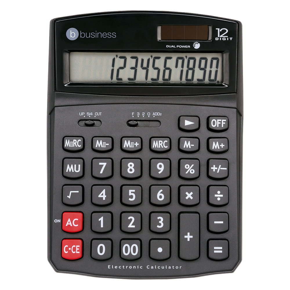 Business Desktop Calculator DT12D/762/12 12 Digit Display Black (Pack of 1)