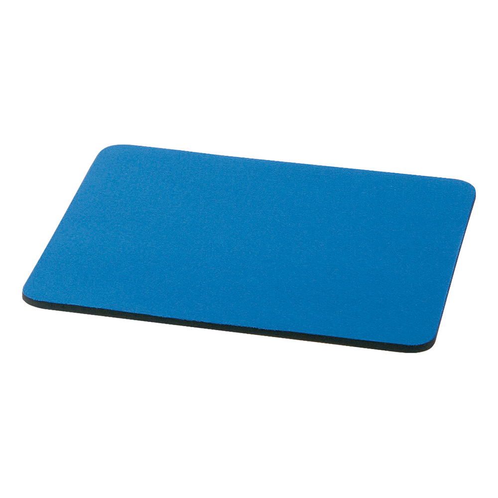 Business Mouse Mat with Rubber Sponge Backing 6mm Blue (Pack of 1)