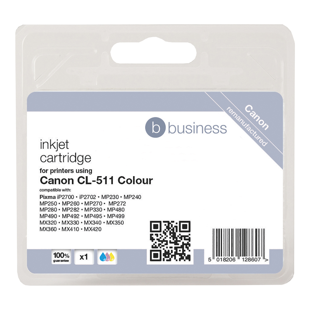 Business Compatible Canon Inkjet Cartridge CL-511 3 Colour (Pack of 1)