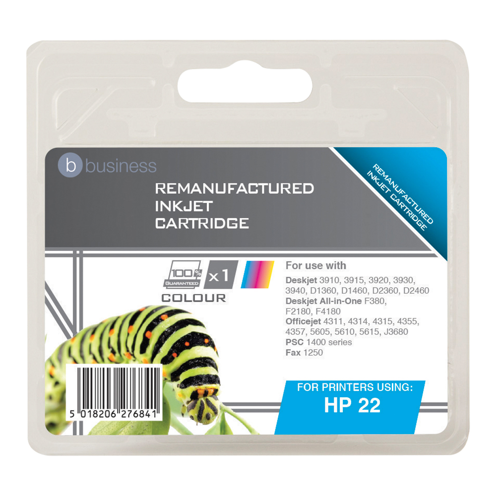 Business Compatible HP Inkjet Cartridge 22 3 Colour (Pack of 1)