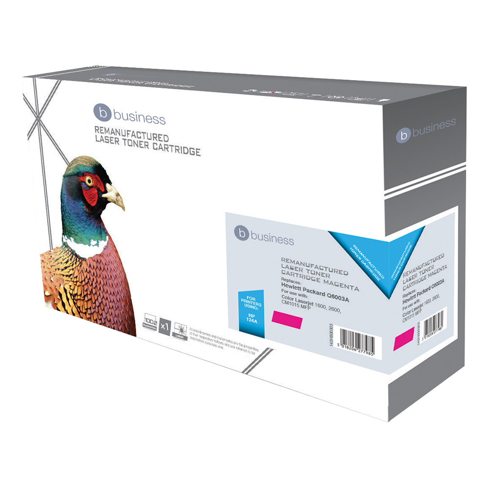 Business Compatible HP Laser Toner Cartridge 124A Magenta (Pack of 1)